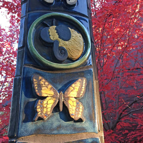 Public Sculptures by Gregory Fields seen at Lake Oswego, Lake Oswego - Pollinators