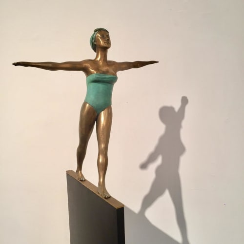 Sculptures by Ignacio Gana seen at Grand Bay Residences, Key Biscayne - Balance