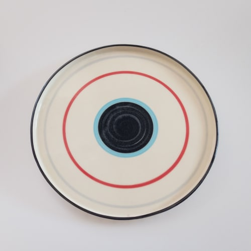 Ceramic Plates by Rust Designs seen at Private Residence, Los Angeles - Circle Platter