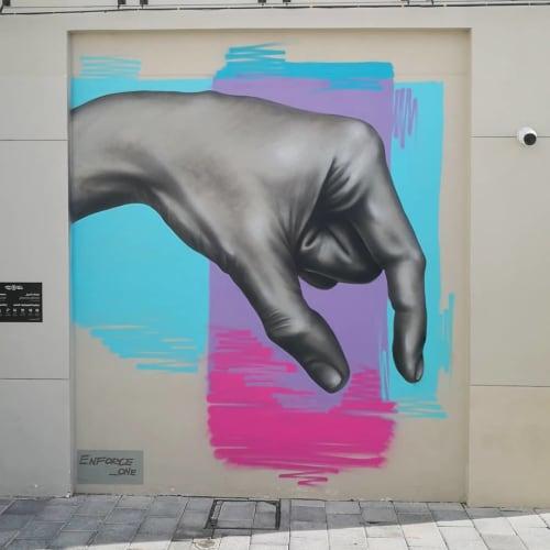 Street Murals by Enforce One seen at City walk, Dubai - Pick Me Up