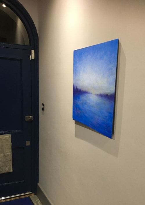 Paintings by Victoria Veedell seen at Private Residence, London - Blue September