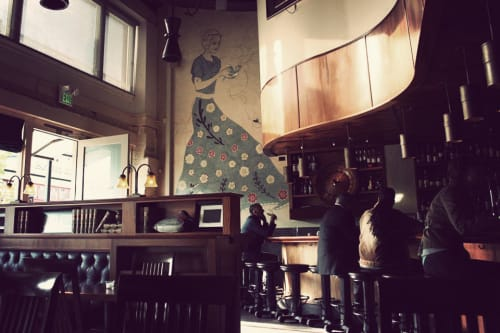 Murals by Tina Randolph at Tavern Law, Seattle - Tavern Law Mural