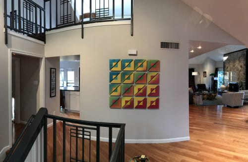 Murals by Ben Willis Art seen at Private Residence, Fort Worth - CMY-OOK