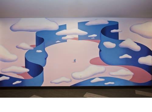 Murals by Maxwell McMaster seen at Mondelēz International, East Hanover - Mondelēz International Mural