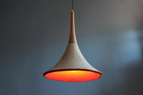 Pendants by Danielle Trofe Design seen at IC Store by WantedDesign, Brooklyn - MushLume Trumpet Pendant