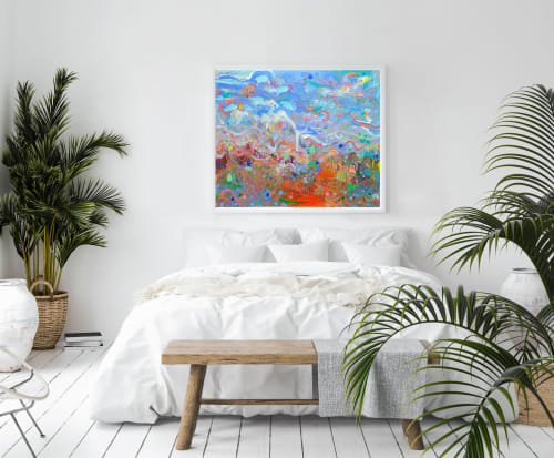 Paintings by Jvilla Art seen at Private Residence, Bérenx - Primary Succession