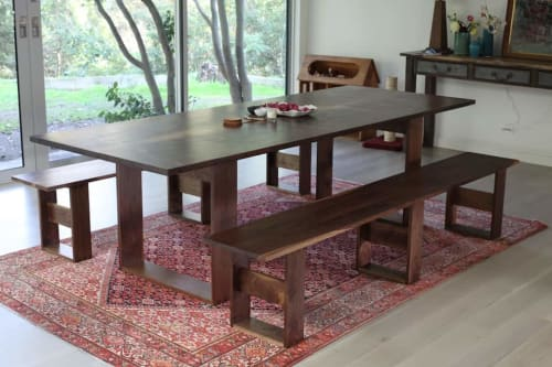 Tables by Offerman Woodshop seen at Private Residence, Los Angeles - Claro Walnut Dining Table