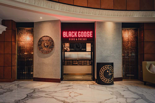 Interior Design by Aces of Space seen at Sheraton Jumeirah Beach Resort, Dubai - Black Goose