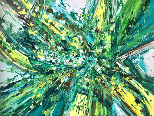 Paintings by Erin Cooke at Private Residence, Seattle, Seattle - Splatter Abstraction III