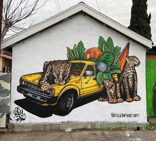 Murals by Kyle Bryant seen at Los Angeles, Los Angeles - Family Matters