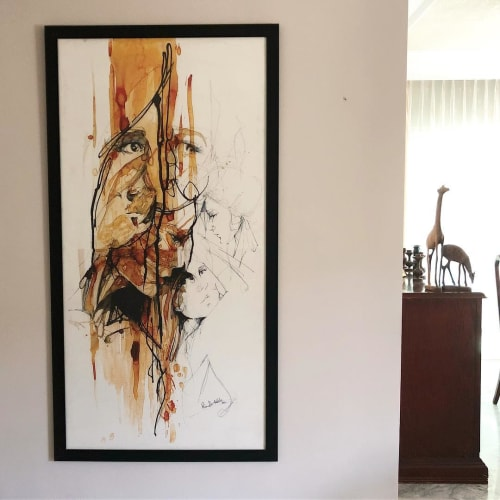Paintings by Randa Haddadin seen at Private Residence, Amman - Abstract Painting