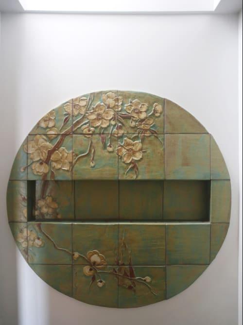 Tiles by Pasadena Craftsman Tile seen at Private Residence, Pasadena, CA, Pasadena - Blossom Niche