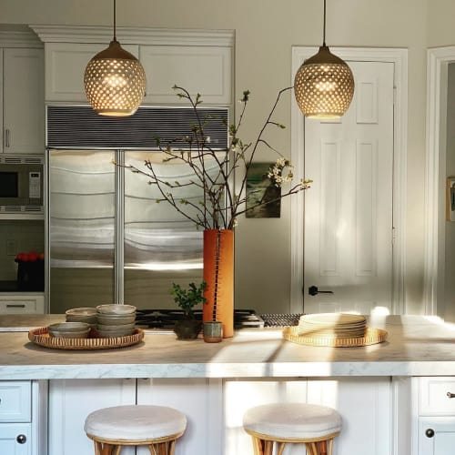 Pendants by Heather Levine seen at Private Residence, Los Angeles - Ceramic pendant lamp
