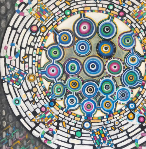 Paintings by Natasha Mistry Art seen at Private Residence, Boulder - Mandala Oil Painting