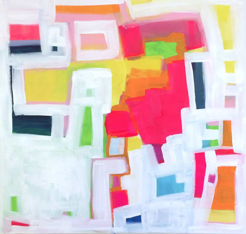 Paintings by Linnea Heide contemporary fine art seen at Private Residence, Tokyo - 'KiD CHARLEMAGNE' original abstract painting by Linnea Heide