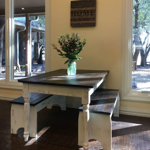 Tables by GRACE in GRAIN seen at Private Residence, Decatur - Harper Child's Farmhouse Table
