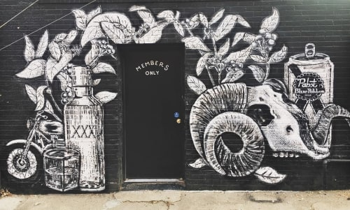 Street Murals by Andrew Hoffman seen at Bellwether, Denver - Members Only