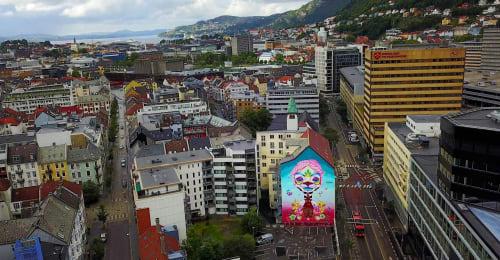 Murals by M.u.M seen at Bergen, Bergen - The Mother 2017