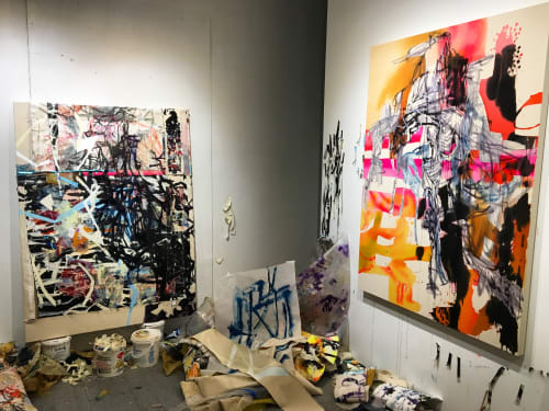 Paintings by Galen Cheney seen at New York, New York - Phoning Phoenix and Syncope