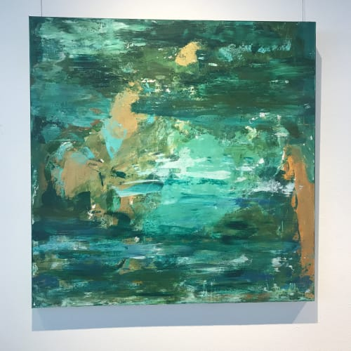 Paintings by Michelle B. Noah   Current Artist Workshop seen at Private Residence, Dallas - Viridian Landscape