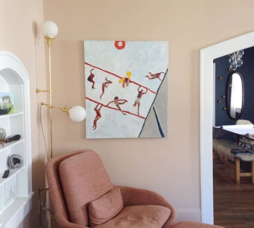 Paintings by Sophie Treppendahl seen at Private Residence, Charleston - Painting