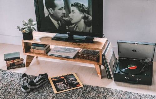 Furniture by Holz Wood Shop seen at Private Residence, Miami - Minimalist TV Console