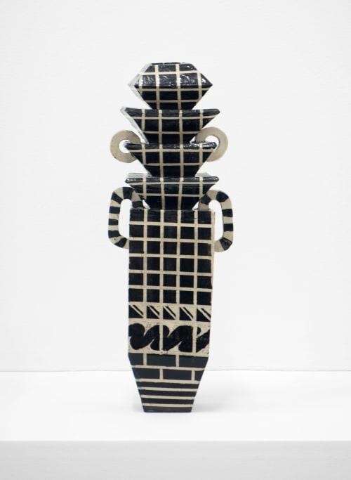 Sculptures by Alex Kovacs Boy Ceramics seen at Private Residence, Philadelphia - Pagoda Vessel