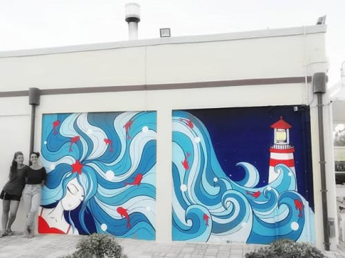 Street Murals by Stefania Gallina - MAPU Lab seen at Cesenatico, Cesenatico - Waves - Commissioned Wall