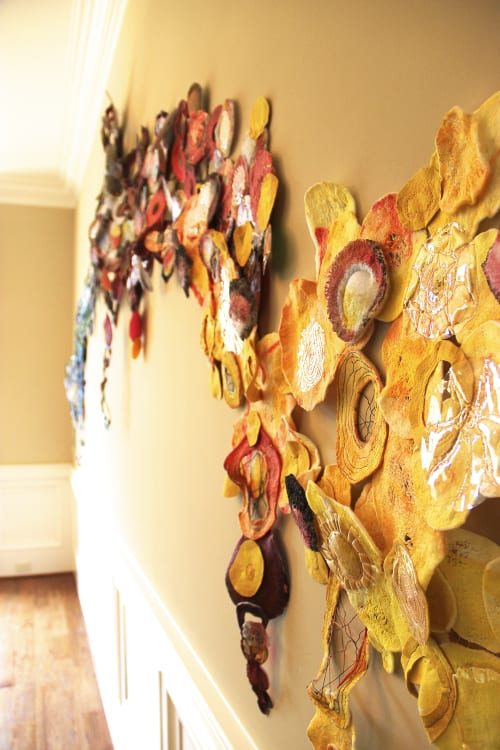 Wall Hangings by Leisa Rich at Private Residence, Atlanta - Knowledge Overcomes Ignorance As Sunlight Darkness
