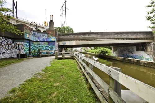 Street Murals by Paul Santoleri seen at Manayunk, Philadelphia - Waters of Change