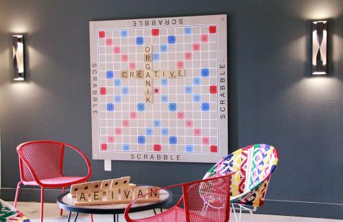Art & Wall Decor by Organik Creative seen at Alexan West Dallas, Dallas - Scrabble Board