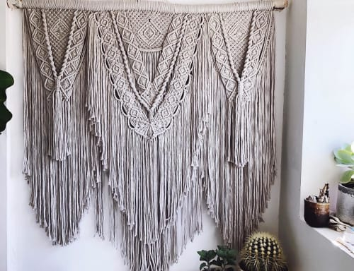 Macrame Wall Hanging by Maya Slininger seen at Private Residence, Winnipeg - Layered Macrame Wall Hanging