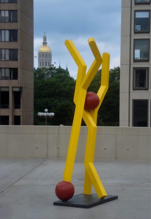 Public Sculptures by David Skora seen at Hartford, Hartford - Bent