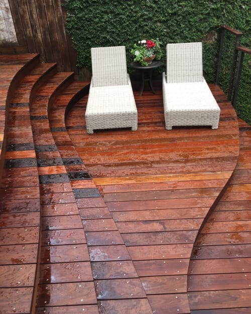 Hardware by Lee Studios seen at Private Residence, Houston - Ipe deck