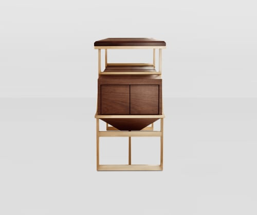 Furniture by Cider Press Woodworks seen at The Evelyn, New York - Art Deco inspired Credenza