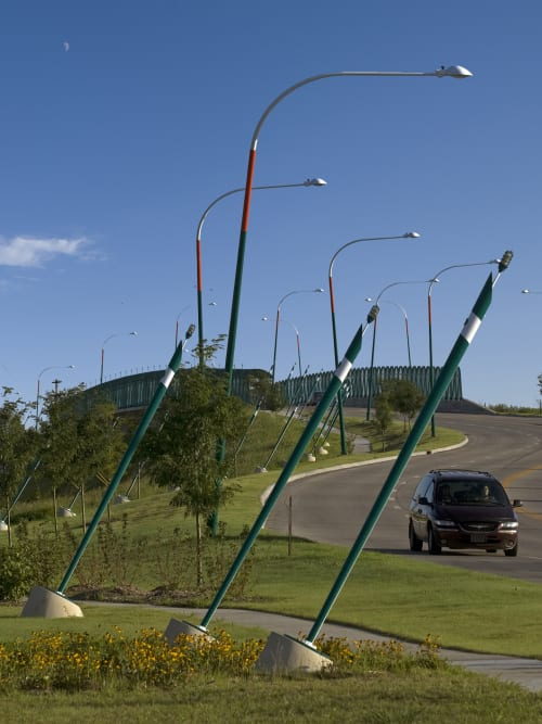 Public Sculptures by Vicki Scuri SiteWorks at North Ohio Street at Pacific Avenue, Salina, KS, Salina - North Ohio