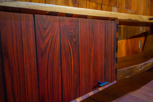 Furniture by Elias González seen at Private Residence, Heredia - Cocobolo Book shelve