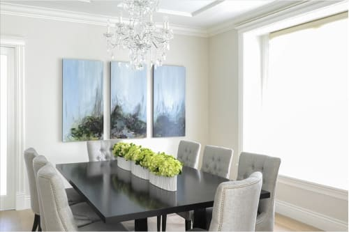 Paintings by Lisa Ochowycz seen at Private Residence, Vancouver - Hawks Series 123