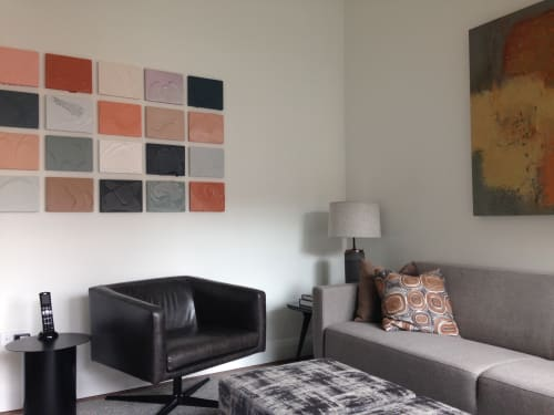 Paintings by Renee Phillips seen at Private Residence, New York - Meditation Studies Color Field Wall