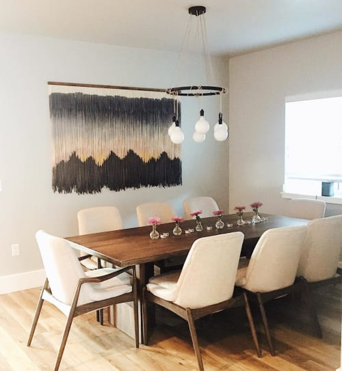 Wall Hangings by ModernYarn Tapestries seen at Private Residence - Custom Tapestry