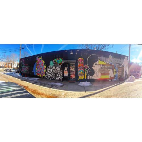Street Murals by Ben Tolman seen at Marine Barracks, Washington - Art Mural