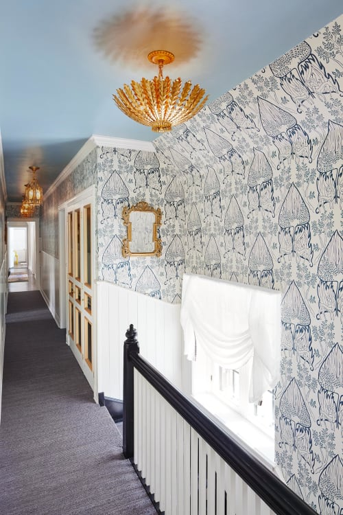 Wallpaper by Relativity Textiles seen at Private Residence, Lake Forest - Lake Forest Showhouse