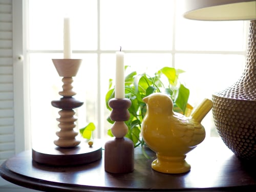 Vases & Vessels by Meg Morrison Design seen at Private Residence, Midlothian - Candlestick Series