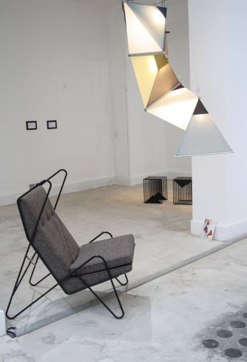 Chairs by Roan Barrion seen at Galerie Joseph, 123 rue de Turenne, Paris - Series Z Lounge Chair
