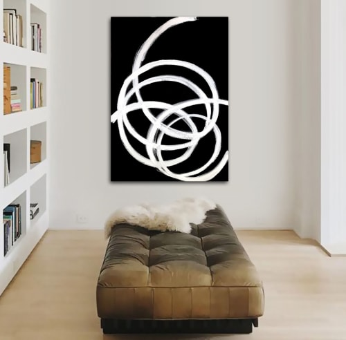 Paintings by Linnea Heide contemporary fine art seen at Asheville, Asheville - 'PiROUETTE' original abstract painting by Linnea Heide