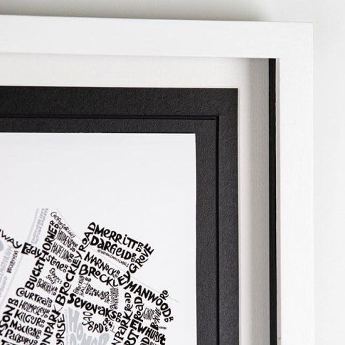 Wall Hangings by Mark Smith – Me On The Map seen at Private Residence, London - Forest Hill Typographic Street Map