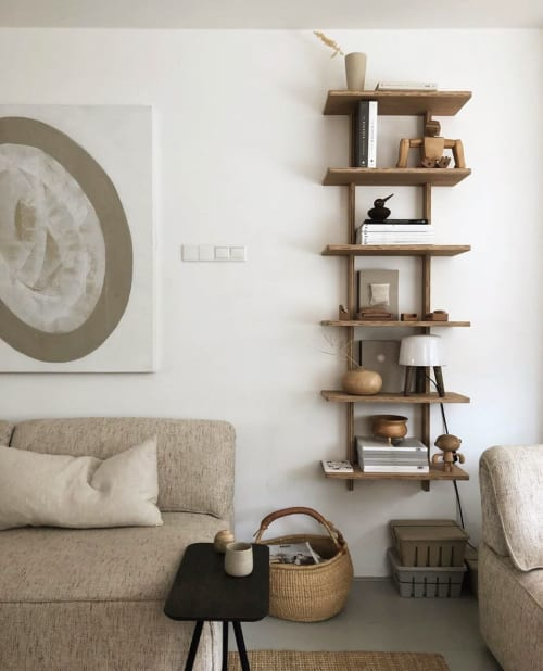 Furniture by Ask og Eng seen at Tinta Luhrman (Woodchuck) Home, Monster - Wood Shelf
