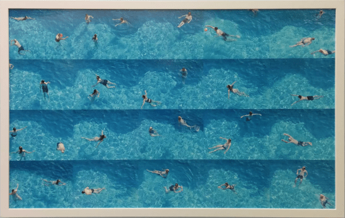 Art & Wall Decor by Lisa Levine seen at Zuckerberg San Francisco General Hospital and Trauma Center, San Francisco - Swim #3: Song of the Sirens and Leaves of Grass
