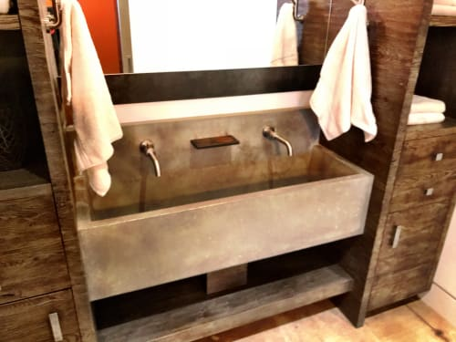 Water Fixtures by Woven 3 Design seen at Grouse Mountain - Concrete Trough Sink
