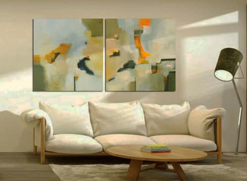 Paintings by Cecilia Arrospide seen at Private Residence - Lima, Peru, Lima - FULGOR I- II